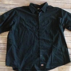 Dickies Black Short Sleeve Button Down Shirt